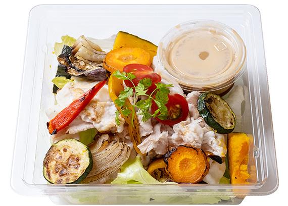 しゃぶしゃぶのせグリル野菜のサラダ