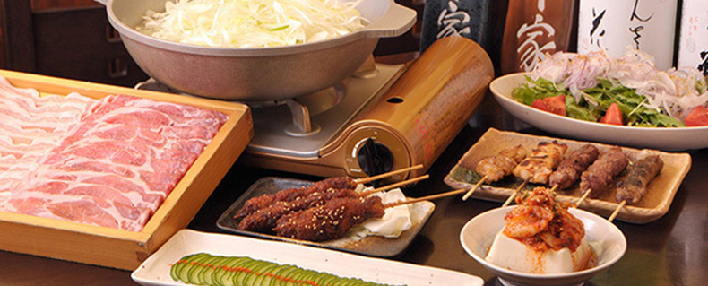 串屋豚道のコース料理